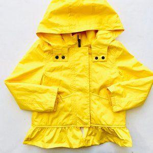 Bright Yellow Fleece Lined Skirted Raincoat